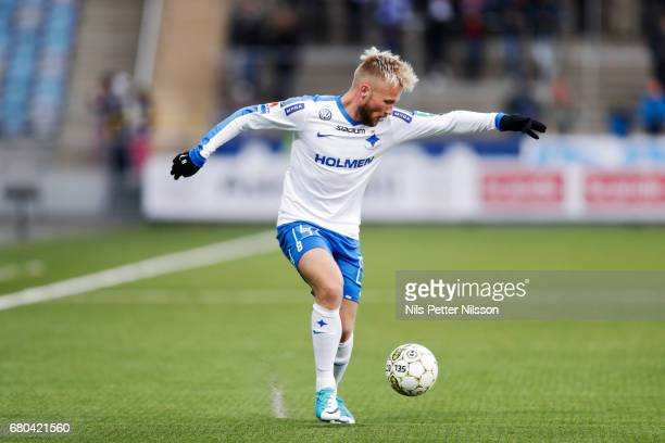Nicklas Barkroth of IFK Norrkoping during the Allsvenskan match between IFK Norrkoping and GIF Sundsvall at Ostgotaporten on May 8 2017 in Norrkoping...