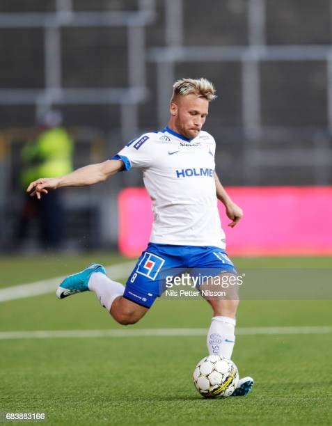 Nicklas Barkroth of IFK Norrkoping during the Allsvenskan match between IFK Norrkoping and Kalmar FF at Ostgotaporten on May 16 2017 in Norrkoping...