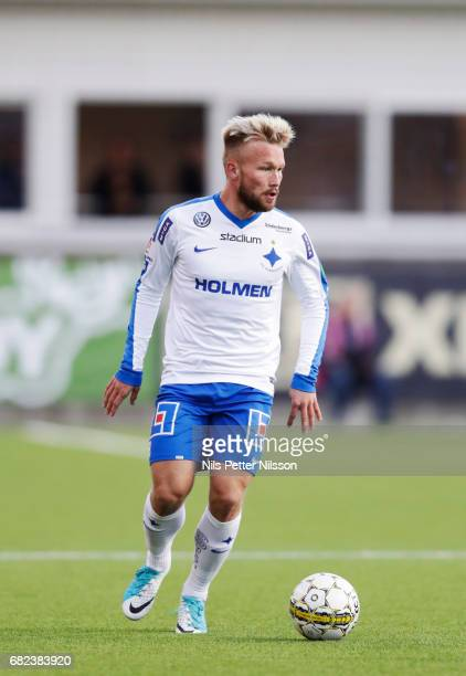 Nicklas Barkroth of IFK Norrkopingduring the Allsvenskan match between Athletic FC Eskilstuna and IFK Norrkoping at Tunavallen on May 12 2017 in...