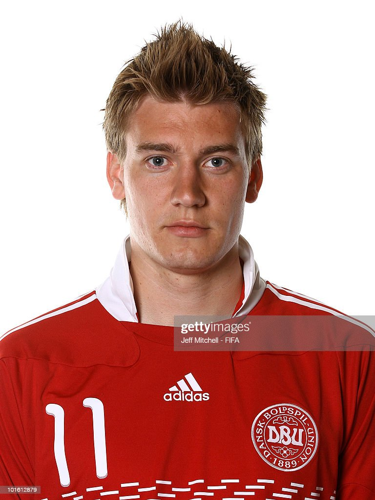 Nicklas Bendtner of Denmark poses during the official FIFA World Cup 2010 portrait session on June 3 2010 in Johannesburg South Africa