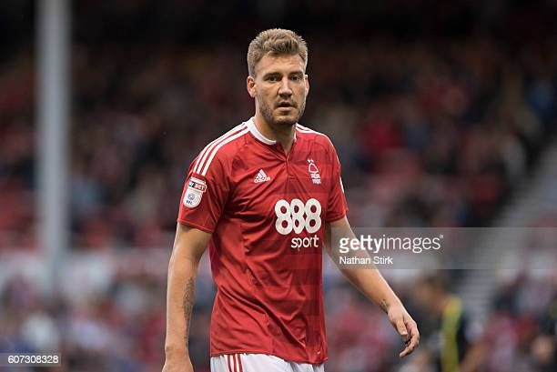 Nicklas Bendtner of Nottingham Forest looks on during the Sky Bet Championship match between Nottingham Forest and Norwich City on September 17 2016...