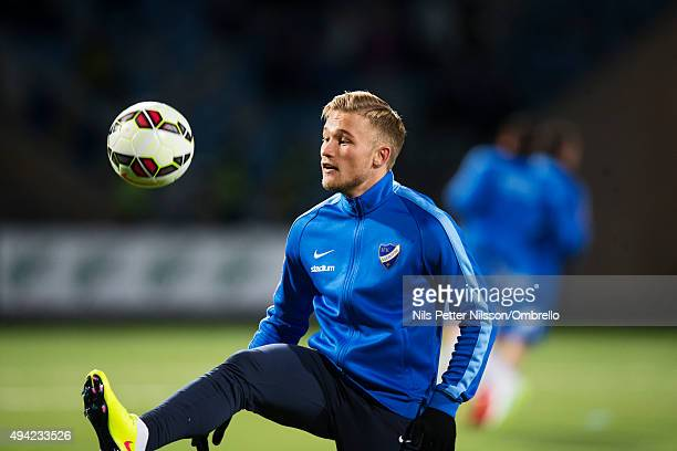 Nicklas Brkroth before the IFK Norrkoping vs Halmstad BK Allsvenskan match at Nya Parken on October 25 2015 in Norrkoping Sweden