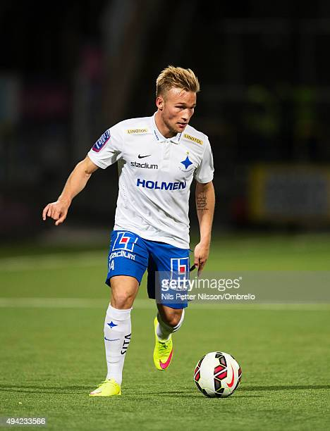 Nicklas Brkroth during the IFK Norrkoping vs Halmstad BK Allsvenskan match at Nya Parken on October 25 2015 in Norrkoping Sweden