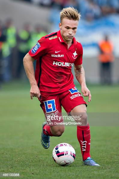 Nicklas Brkroth during the match between Malmo FF and IFK Norrkoping at Swedbank Stadion on October 31 2015 in Malmo Sweden