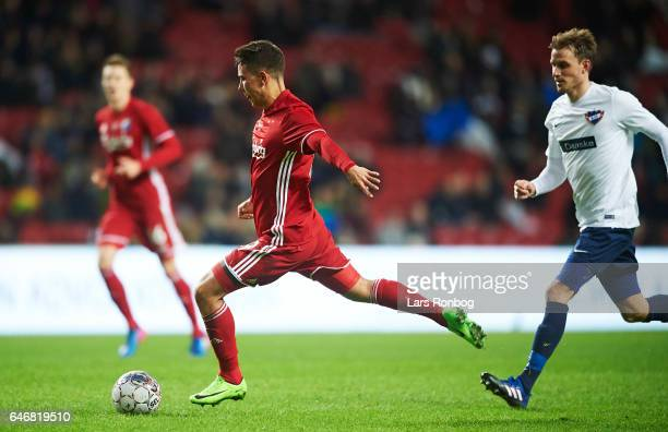 Nicklas Rojkjar of FC Copenhagen in action during the Danish Cup DBU Pokalen match match between B93 and FC Copenhagen at Telia Parken Stadium on...