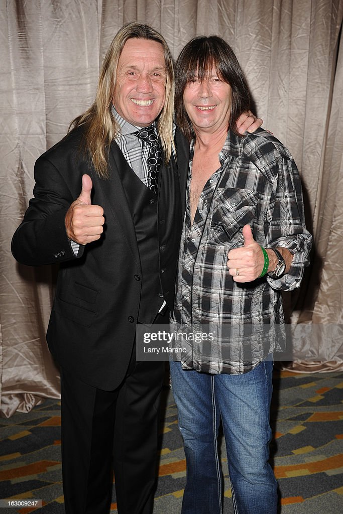 Nicko McBrain and Pat Travers attend Classic Rock And Roll Party to benefit HomeSafe at Seminole Hard Rock Hotel on March 2, 2013 in Hollywood, Florida.