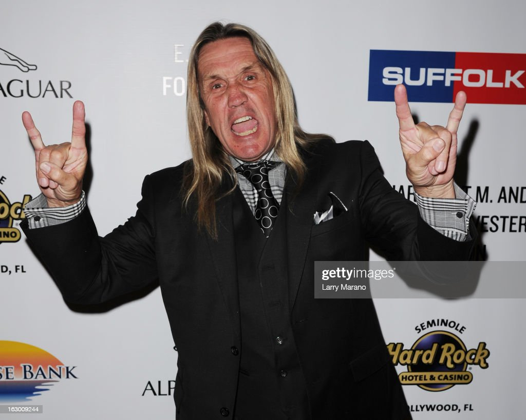 Nicko McBrain attends Classic Rock And Roll Party to benefit HomeSafe at Seminole Hard Rock Hotel on March 2, 2013 in Hollywood, Florida.