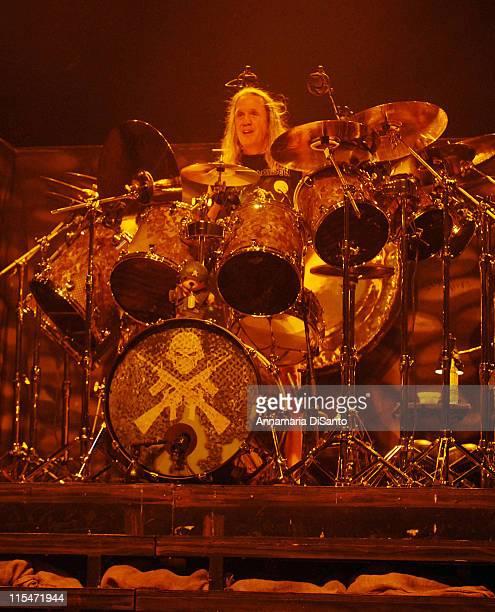 Nicko McBrain of Iron Maiden during Iron Maiden Concert in Toronto October 16 2006 at Air Canada Center in Toronto Ontario Canada