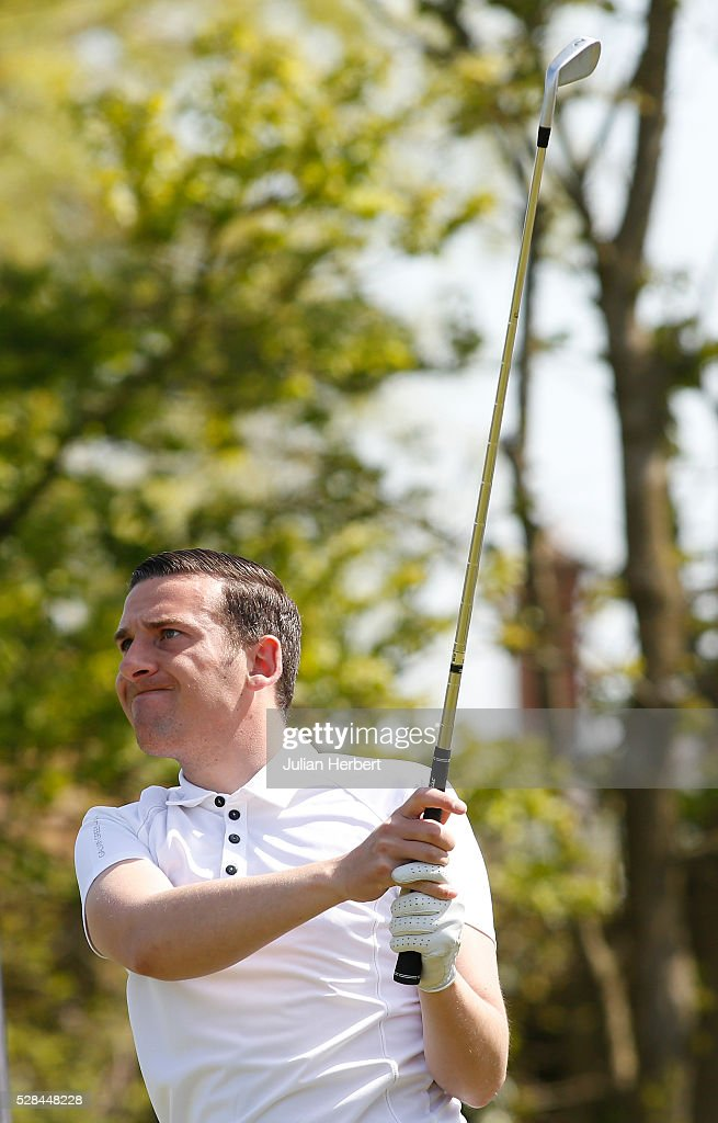 Nicky addison of Saunton Golf Club plays his first shot on the 1st tee during the PGA Professional Championship - West Qualifier at Burnham And Berrow Golf Club Club on May 5, 2016, in Burnham-On-Sea, England.