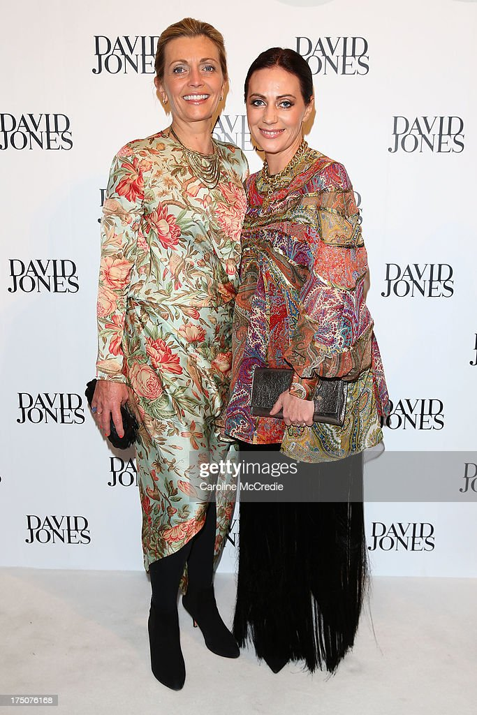 Nicky and <a gi-track='captionPersonalityLinkClicked' href=/galleries/search?phrase=Simone+Zimmermann&family=editorial&specificpeople=668005 ng-click='$event.stopPropagation()'>Simone Zimmermann</a> arrives at the David Jones Spring/Summer 2013 Collection Launch at David Jones Elizabeth Street on July 31, 2013 in Sydney, Australia.