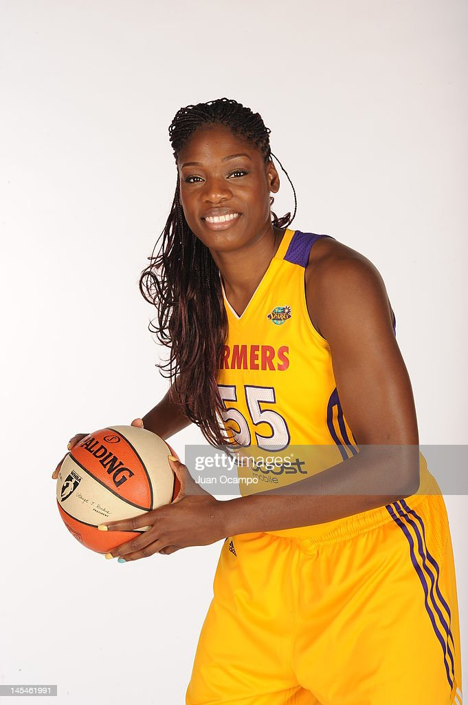 Nicky Anosike of the Los Angeles Sparks poses for a portrait during media day at Los Angeles Southwest College on May 14 2012 in Los Angeles...