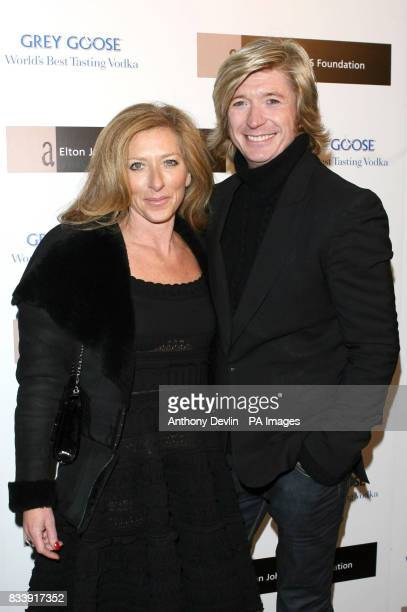 Nicky Clarke and Kelly Hoppen arrives at the Grey Goose Vodka and The Elton John AIDS Foundation VIP launch party One Piazza Covent Garden London