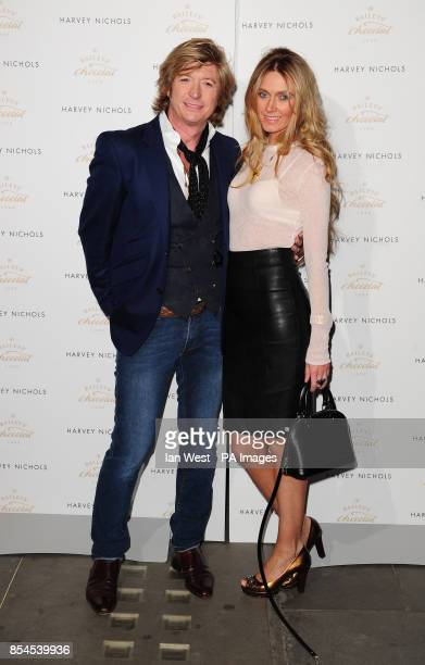 Nicky Clarke and Kelly Simpkin attending the Baileys Feaster Egg Hunt at Harvey Nichols in London