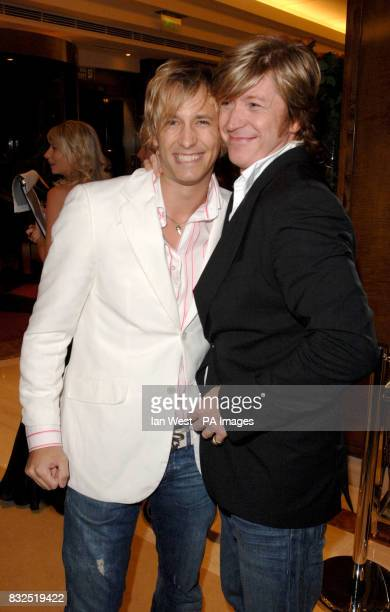 Nicky Clarke and Rick Parfitt Jr arrive for the Gilt Champagne Lounge launch party at the Jumeirah Carlton Tower in central London Picture date...