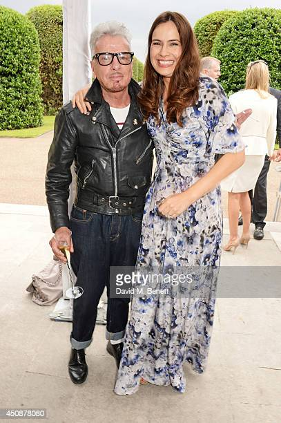 Nicky Haslam and Lady Sophie Windsor attend the drinks reception hosted by Dockers the San Francisco based apparel brand at Kensington Palace on the...