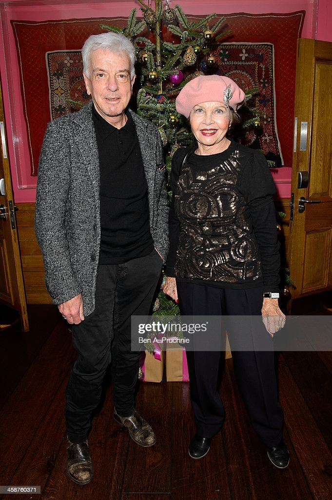 Nicky Haslam and Leslie Caron attend the August: Osage County drinks & screening at Soho Hotel on December 21, 2013 in London, England.