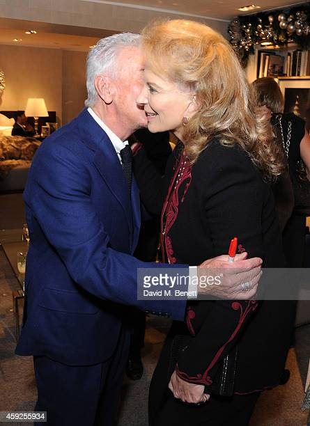 Nicky Haslam and Princess Michael of Kent attend the launch of Nicky Haslam's new book 'A Designer's Life' at Ralph Lauren on November 19 2014 in...