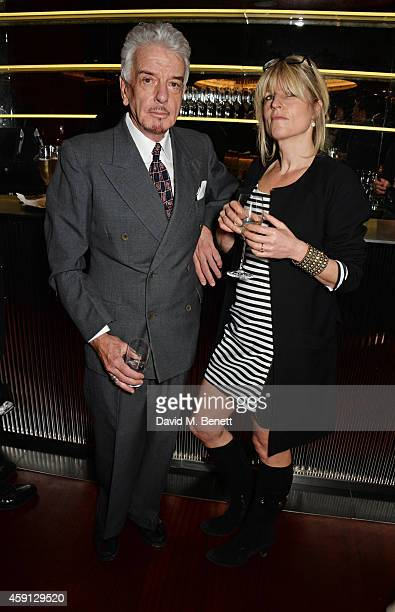 Nicky Haslam and Rachel Johnson attend the Liberatum Cultural Honour for Francis Ford Coppola at The Bulgari Hotel on November 17 2014 in London...