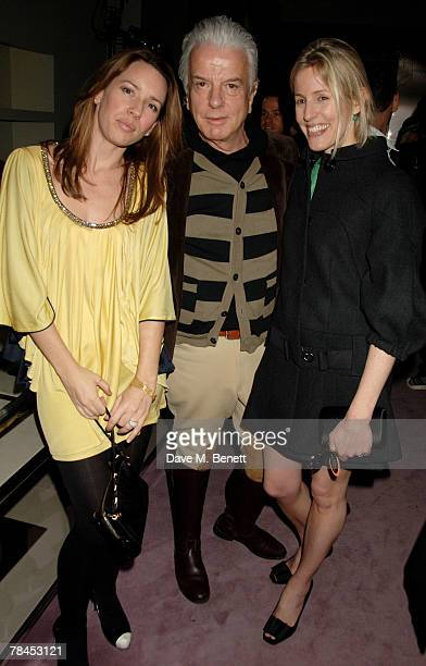 Nicky Haslam and Sidney Finch attend Prada's christmas party at Prada on December 13 2007 in London England