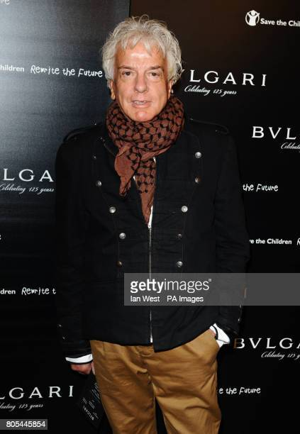 Nicky Haslam arriving at the Vogue Bvlgari 125th Anniversary Party drinks reception in aid of Save The Children at the Saatchi Gallery Kings Road...