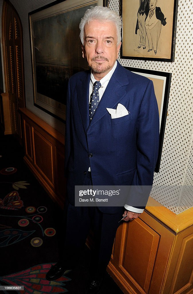 Nicky Haslam attends the launch of Bryan Ferry's new album 'The Jazz Age' at Annabels on November 22, 2012 in London, England.