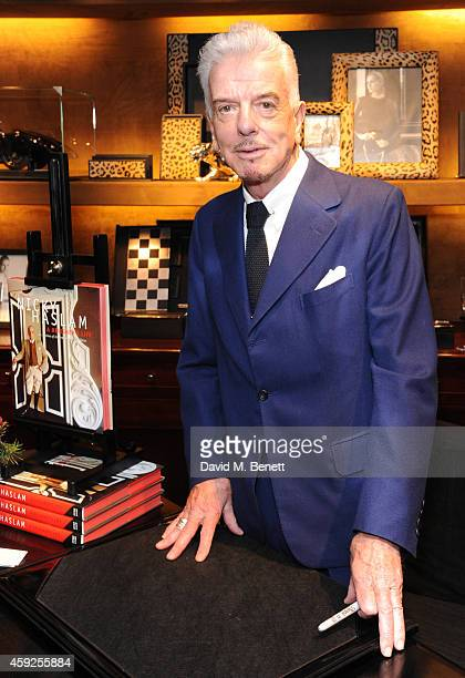 Nicky Haslam attends the launch of Nicky Haslam's new book 'A Designer's Life' at Ralph Lauren on November 19 2014 in London England