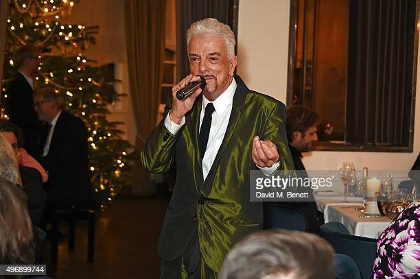 Nicky Haslam performs at Gigi's on November 12 2015 in London England