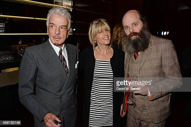 Nicky Haslam Rachel Johnson and Gavin Turk attend the Liberatum Cultural Honour for Francis Ford Coppola at The Bulgari Hotel on November 17 2014 in...