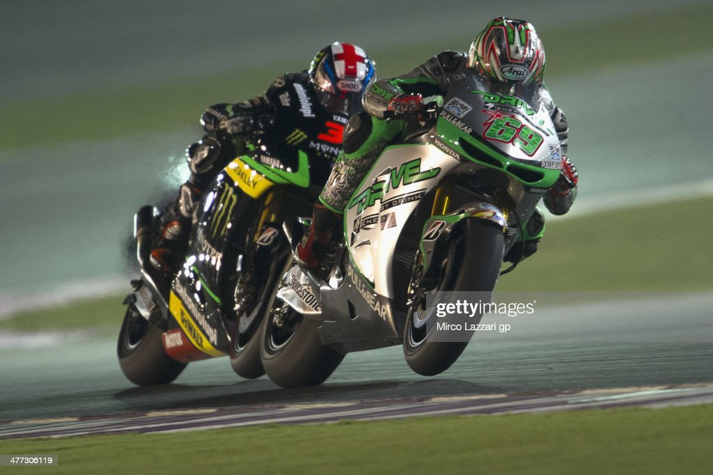 <a gi-track='captionPersonalityLinkClicked' href=/galleries/search?phrase=Nicky+Hayden&family=editorial&specificpeople=227346 ng-click='$event.stopPropagation()'>Nicky Hayden</a> of USA and Drive M7 Aspar leads the field during the MotoGP Tests in Losail - Day Two at Losail Circuit on March 8, 2014 in Doha, Qatar.