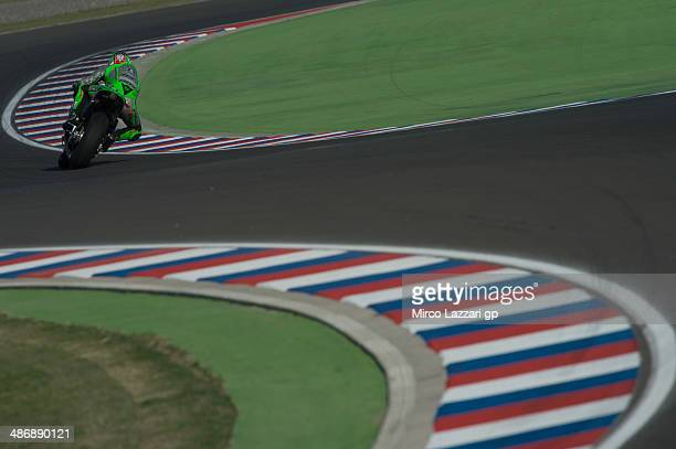 Nicky Hayden of USA and Drive M7 Aspar rounds the bend during the qualifying practice during the MotoGp of Argentina Qualifying at on April 26 2014...