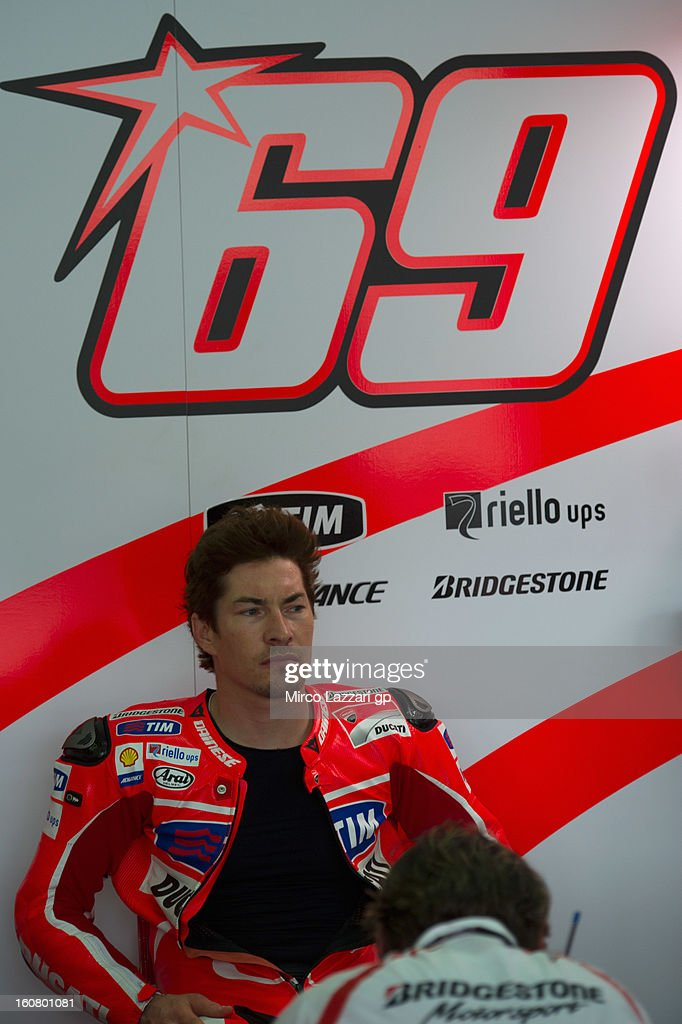 Nicky Hayden of USA and Ducati Marlboro Team looks on during the MotoGP Tests in Sepang - Day Four at Sepang Circuit on February 6, 2013 in Kuala Lumpur, Malaysia.