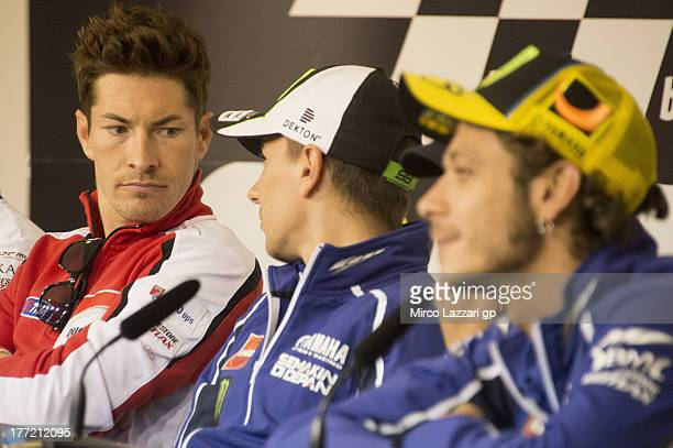 Nicky Hayden of USA and Ducati Marlboro Team looks on during the press conference preevent during the MotoGp of Czech Republic Previews at Brno...