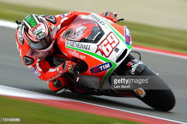 Nicky Hayden of USA and Ducati Team drives during the Qualifying of MotoGp Of Holland at TT Circuit Assen on June 29 2012 in Assen Netherlands