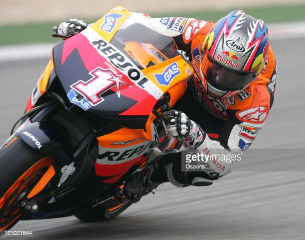 Nicky Hayden of USA and Repsol Honda team in action during the Free Practice 2 at the 2007 Motorcycle Grand Prix of China at the Shanghai...
