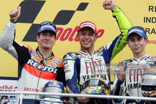 Nicky HAYDEN / Valentino ROSSI / Jorge LORENZO MotoGP Grand Prix des Etats Unis Indianapolis