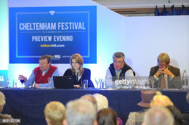 Nicky Henderson Kate Miller Paul Nicholls and Andy Stuart during the William Hill Cheltenham Festival Preview Evening following the the William Hill...