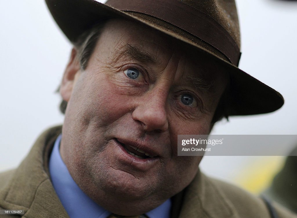 Nicky Henderson poses at Newbury racecourse on February 09, 2013 in Newbury, England.
