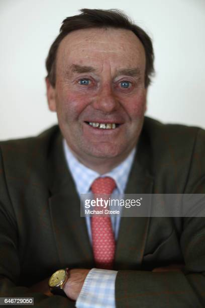 Nicky Henderson poses for a portrait during the trainers press conference ahead of the 2017 Cheltenham Festival at Cheltenham Racecourse on March 1...