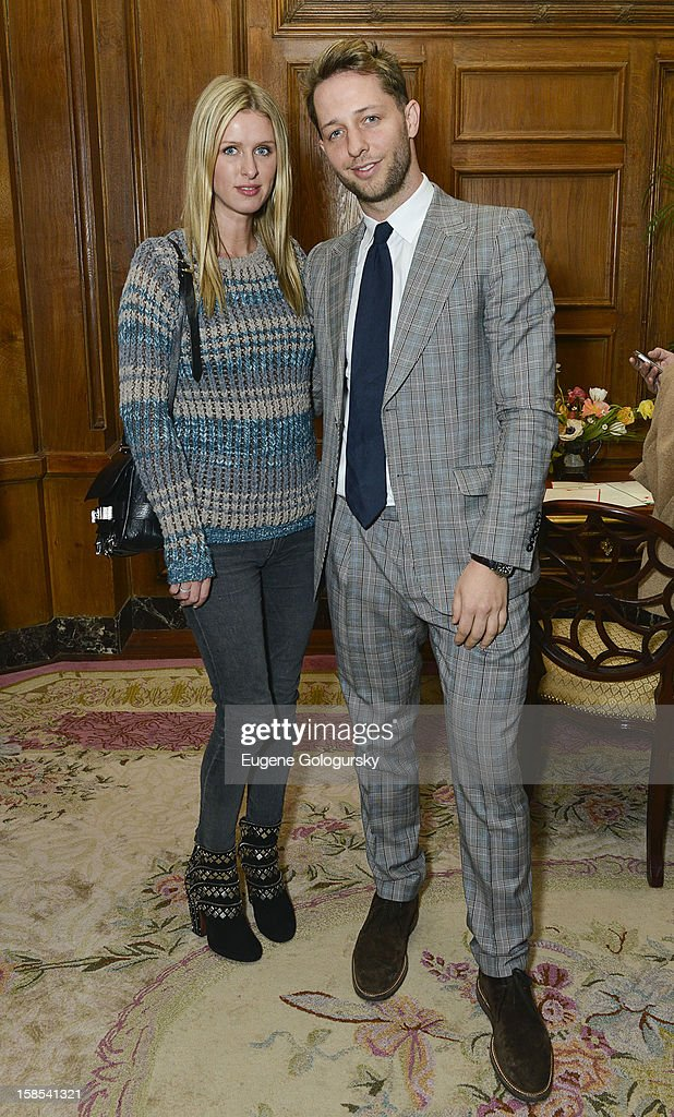 Nicky Hilton and Derek Blasberg attend Derek Blasberg for Opening Ceremony Stationery launch party at Saint Regis Hotel on December 18, 2012 in New York City.