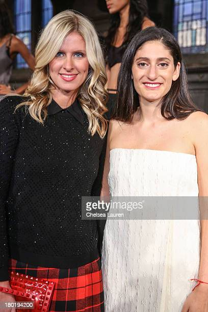 Nicky Hilton and designer Arden Wohl attends the Arden Wohl X Cir De Crie presentation during MercedesBenz Fashion Week at The Highline Hotel on...