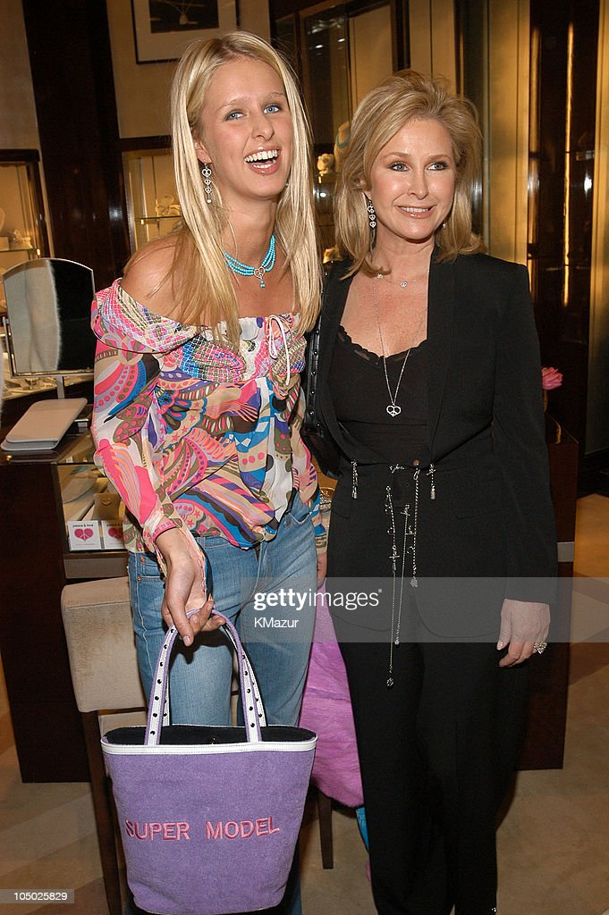 Nicky Hilton and mother <a gi-track='captionPersonalityLinkClicked' href=/galleries/search?phrase=Kathy+Hilton&family=editorial&specificpeople=209306 ng-click='$event.stopPropagation()'>Kathy Hilton</a> during Nancy Davis Debuts Her 'Peace and Love' Jewelry Collection at Saks Fifth Avenue in New York City, New York, United States.