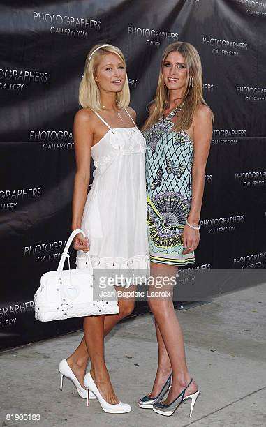 Nicky Hilton and Paris Hilton attend the opening of 'The Good Life' photographs by Murray Garrett and Slim Aarons at the Photographers Gallery on...