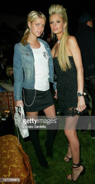 Nicky Hilton and Paris Hilton during Women's Wear Daily The Ultimate Fashion Authority and Diamond Information Center Host 'Dazzling With Color and...