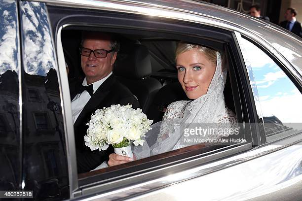 Nicky Hilton and Richard Hilton leave Claridges ahead of her wedding on July 10 2015 in London England