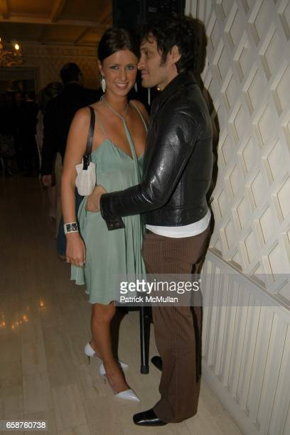 Nicky Hilton and Vincent Gallo attend Kathy and Rick Hilton's party for Donald Trump and 'The Apprentice' at the Hiltons' Home on February 28 2004 in...