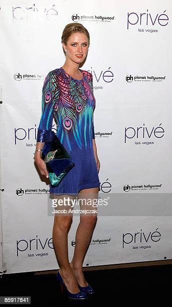 Nicky Hilton arrives at Prive Las Vegas inside the Planet Hollywood Resort Casino on April 11 2009 in Las Vegas Nevada