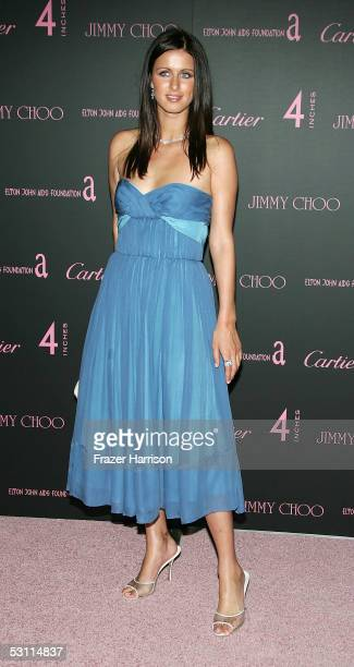 Nicky Hilton arrives at the Jimmy Choo and Cartier Present 'Four Inches' event held at Mortons on June 21 2005 in Los Angeles California