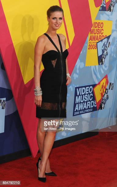 Nicky Hilton arrives for the MTV Video Music Awards 2008 at Paramount Studios Hollywood Los Angeles California