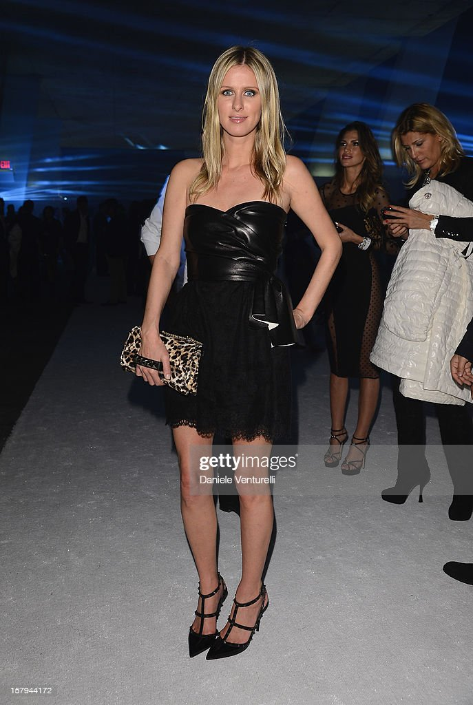 Nicky Hilton attends a party as Moncler Celebrates Its 60th Anniversary At Art Basel Miami Beach on December 7, 2012 in Miami Beach, Florida.