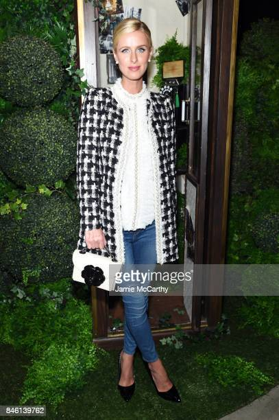 Nicky Hilton attends Alice Olivia By Stacey Bendet fashion show during September 2017 New York Fashion Week The Shows at Gallery 2 Skylight Clarkson...